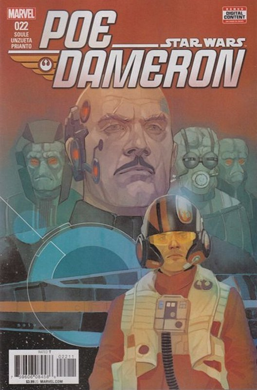 Cover of Star Wars: Poe Dameron #22. One of 250,000 Vintage American Comics on sale from Krypton!