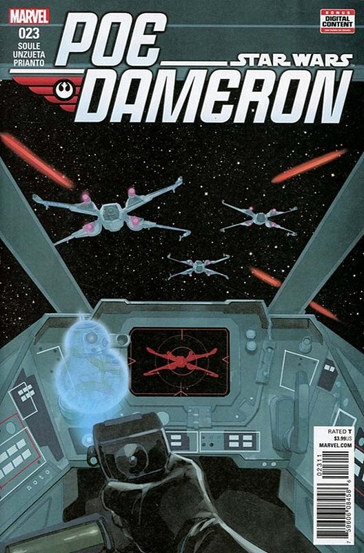 Cover of Star Wars: Poe Dameron #23. One of 250,000 Vintage American Comics on sale from Krypton!