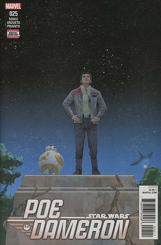 Cover of Star Wars: Poe Dameron #25. One of 250,000 Vintage American Comics on sale from Krypton!