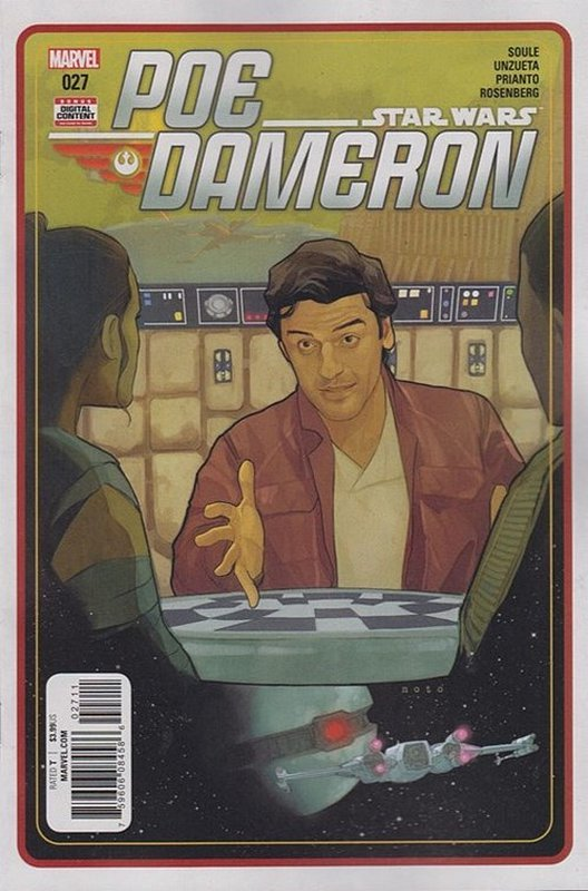 Cover of Star Wars: Poe Dameron #27. One of 250,000 Vintage American Comics on sale from Krypton!