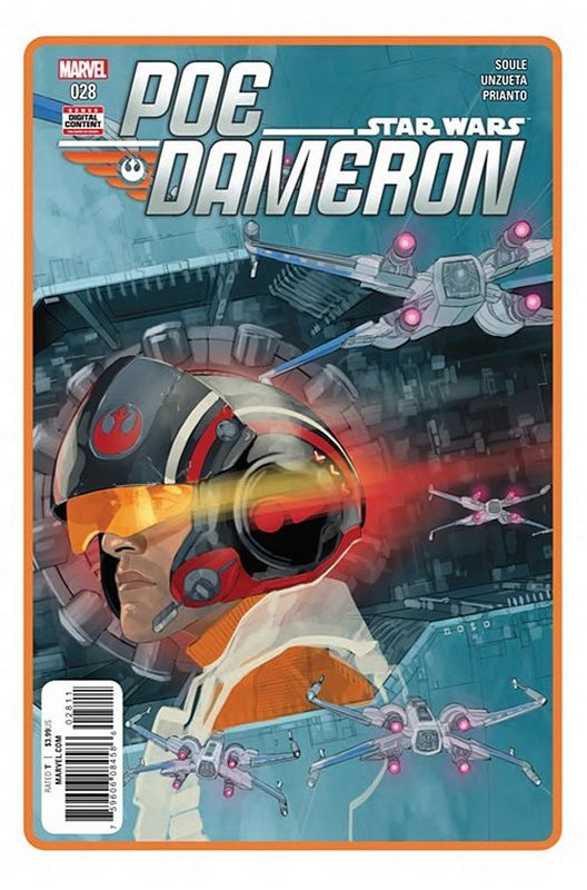 Cover of Star Wars: Poe Dameron #28. One of 250,000 Vintage American Comics on sale from Krypton!