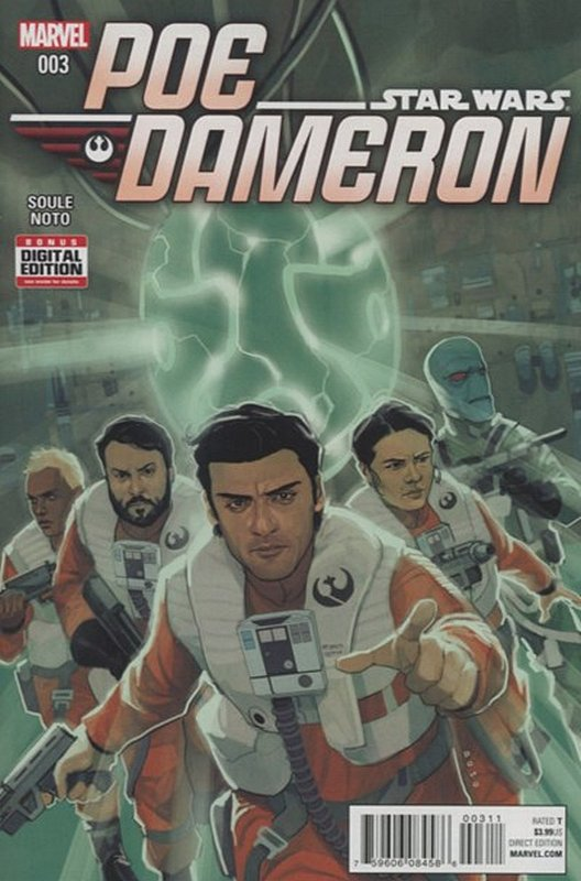 Cover of Star Wars: Poe Dameron #3. One of 250,000 Vintage American Comics on sale from Krypton!