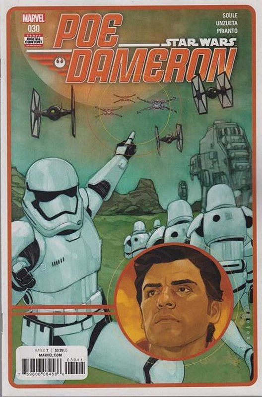 Cover of Star Wars: Poe Dameron #30. One of 250,000 Vintage American Comics on sale from Krypton!