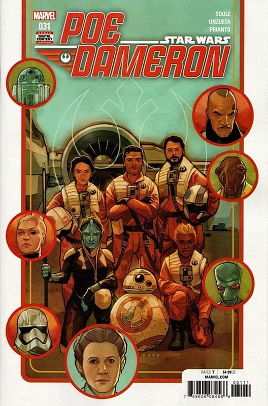 Cover of Star Wars: Poe Dameron #31. One of 250,000 Vintage American Comics on sale from Krypton!