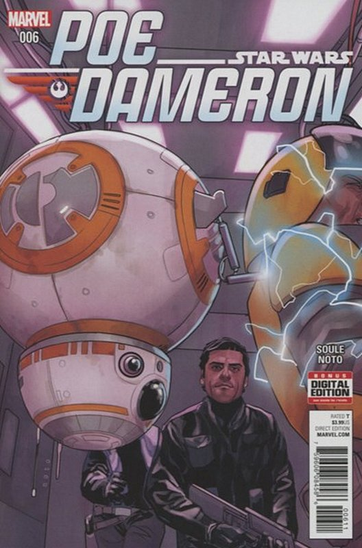 Cover of Star Wars: Poe Dameron #6. One of 250,000 Vintage American Comics on sale from Krypton!