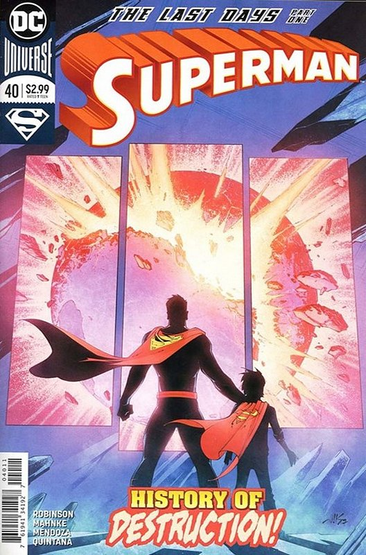 Cover of Superman (Vol 5) #40. One of 250,000 Vintage American Comics on sale from Krypton!