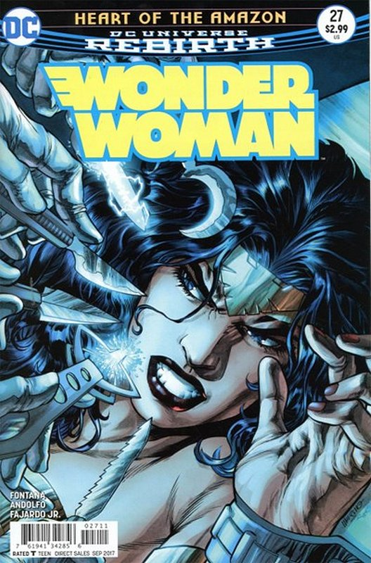 Cover of Wonder Woman (Vol 5) #27. One of 250,000 Vintage American Comics on sale from Krypton!