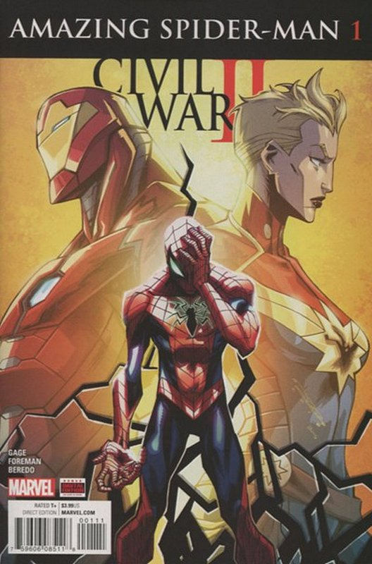 Cover of Civil War II Amazing Spider-Man (2016 Ltd) #1. One of 250,000 Vintage American Comics on sale from Krypton!
