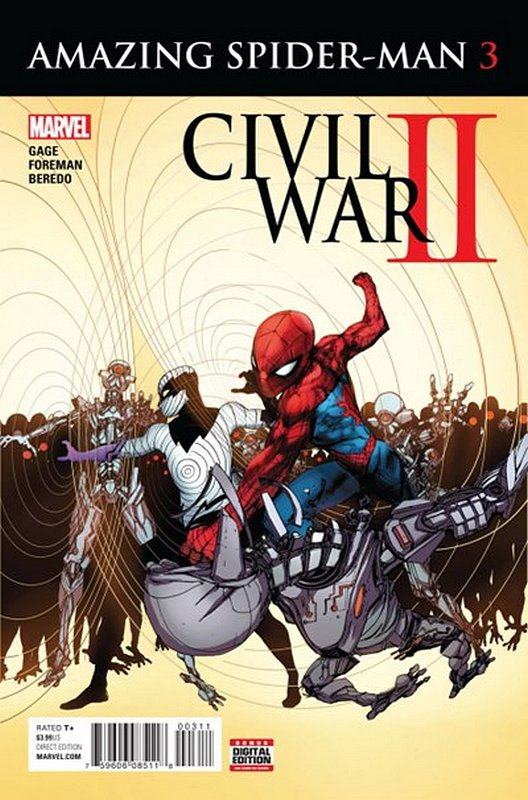Cover of Civil War II Amazing Spider-Man (2016 Ltd) #3. One of 250,000 Vintage American Comics on sale from Krypton!