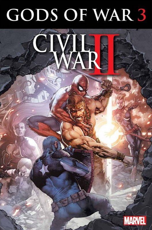 Cover of Civil War II Gods of War (2016 Ltd) #3. One of 250,000 Vintage American Comics on sale from Krypton!
