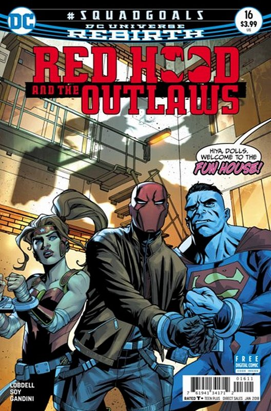 Cover of Red Hood & The Outlaws (Vol 2) #16. One of 250,000 Vintage American Comics on sale from Krypton!