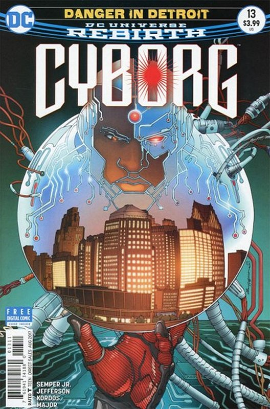 Cover of Cyborg (Vol 2) #13. One of 250,000 Vintage American Comics on sale from Krypton!