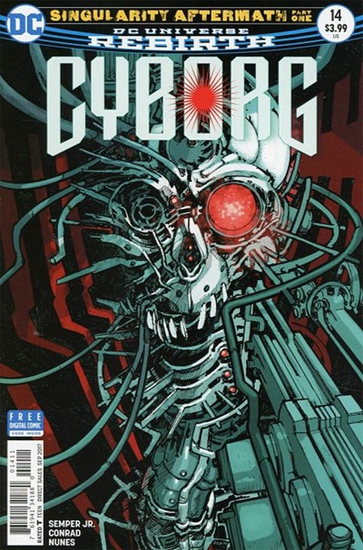Cover of Cyborg (Vol 2) #14. One of 250,000 Vintage American Comics on sale from Krypton!