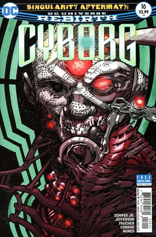 Cover of Cyborg (Vol 2) #16. One of 250,000 Vintage American Comics on sale from Krypton!