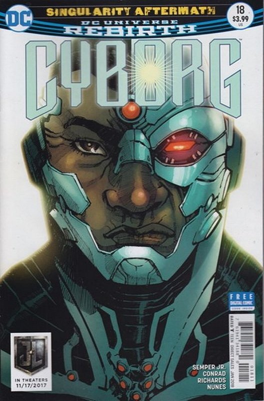 Cover of Cyborg (Vol 2) #18. One of 250,000 Vintage American Comics on sale from Krypton!