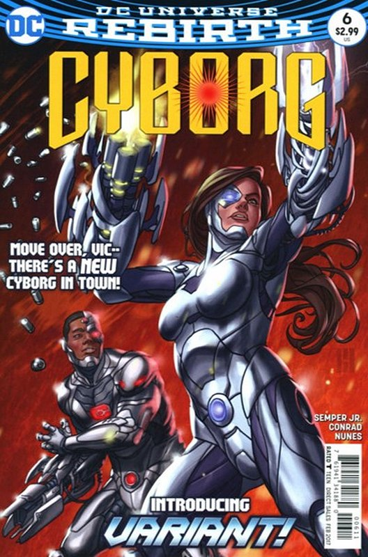 Cover of Cyborg (Vol 2) #6. One of 250,000 Vintage American Comics on sale from Krypton!