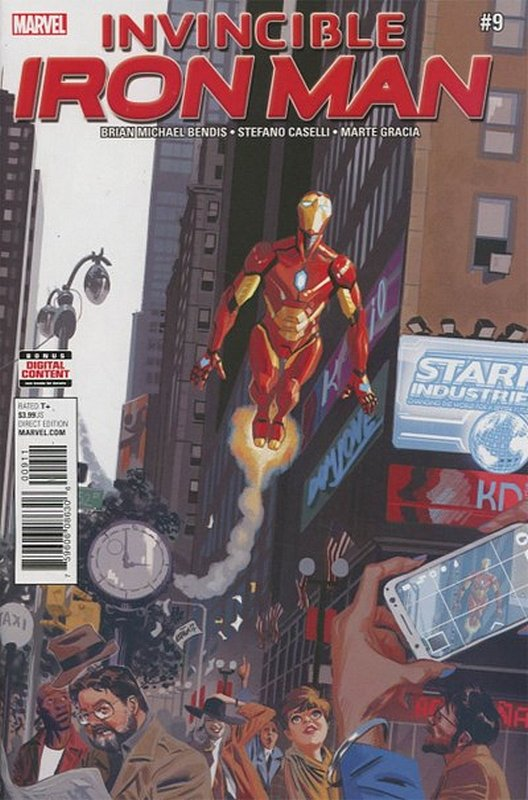 Cover of Invincible Iron Man (Vol 3) #9. One of 250,000 Vintage American Comics on sale from Krypton!