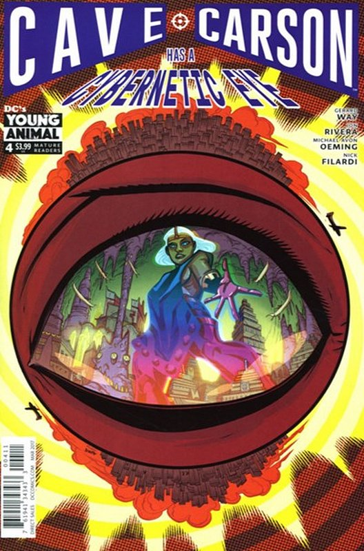 Cover of Cave Carson: Has a Cybernetic Eye #4. One of 250,000 Vintage American Comics on sale from Krypton!