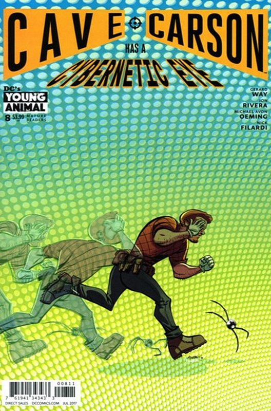 Cover of Cave Carson: Has a Cybernetic Eye #8. One of 250,000 Vintage American Comics on sale from Krypton!
