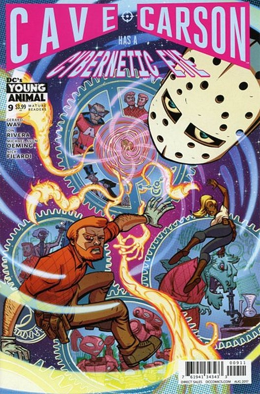 Cover of Cave Carson: Has a Cybernetic Eye #9. One of 250,000 Vintage American Comics on sale from Krypton!