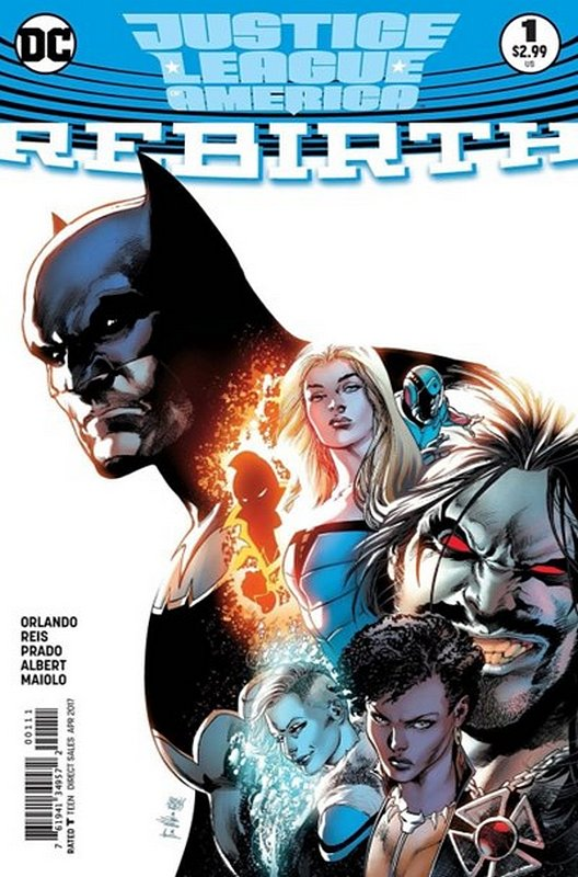 Cover of Justice League of America: Rebirth (2017 One Shot) #1. One of 250,000 Vintage American Comics on sale from Krypton!