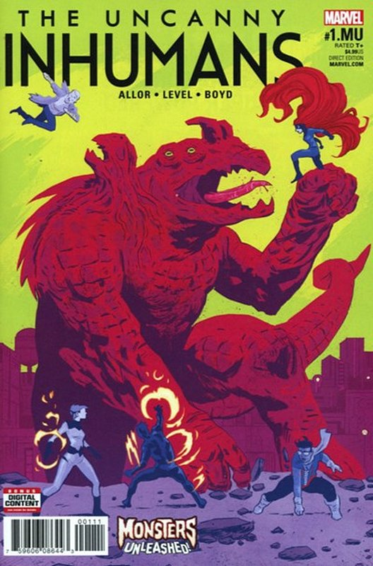 Cover of Uncanny Inhumans: Monsters Unleashed (2017) #1. One of 250,000 Vintage American Comics on sale from Krypton!