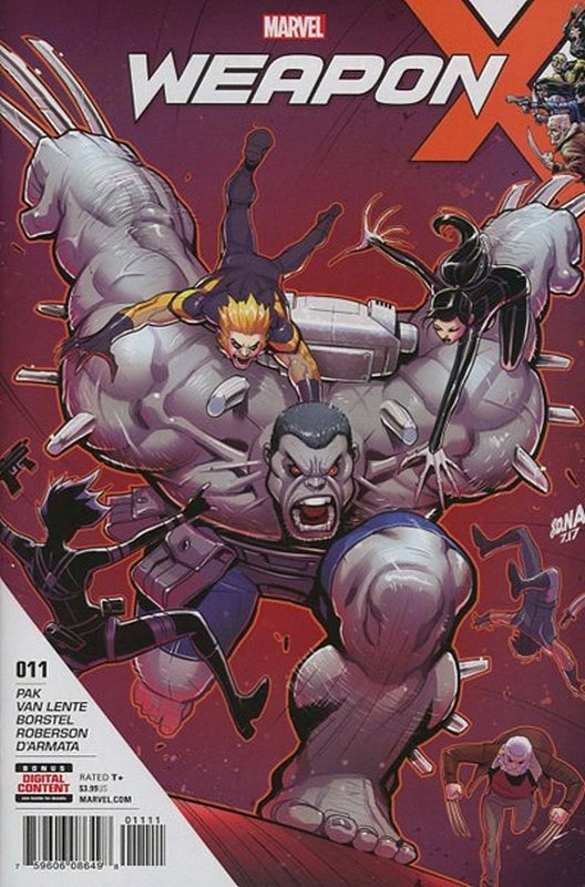 Cover of Weapon X (Vol 2) #11. One of 250,000 Vintage American Comics on sale from Krypton!