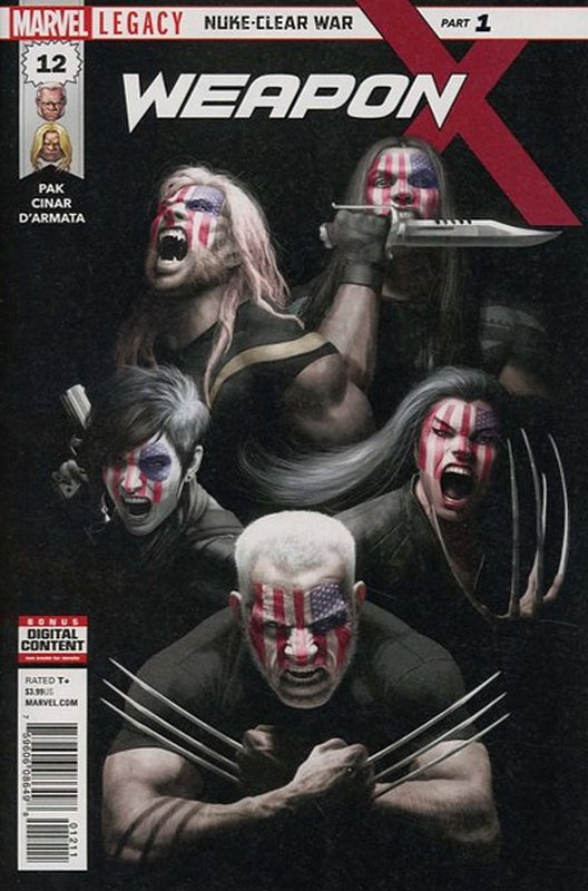 Cover of Weapon X (Vol 2) #12. One of 250,000 Vintage American Comics on sale from Krypton!