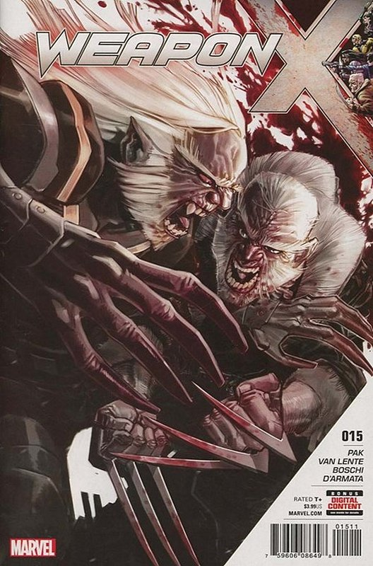 Cover of Weapon X (Vol 2) #15. One of 250,000 Vintage American Comics on sale from Krypton!