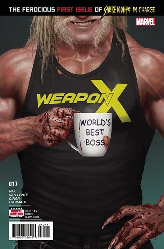 Cover of Weapon X (Vol 2) #17. One of 250,000 Vintage American Comics on sale from Krypton!