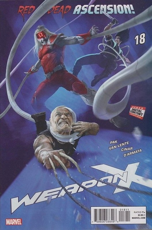 Cover of Weapon X (Vol 2) #18. One of 250,000 Vintage American Comics on sale from Krypton!