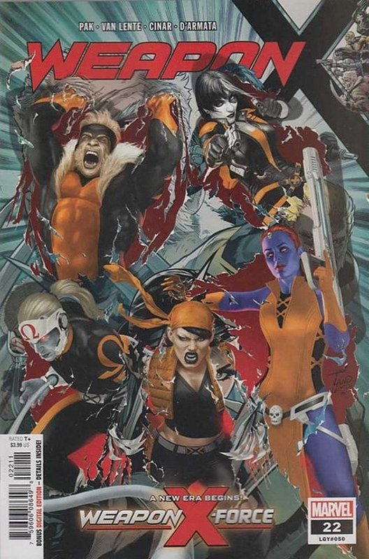 Cover of Weapon X (Vol 2) #22. One of 250,000 Vintage American Comics on sale from Krypton!