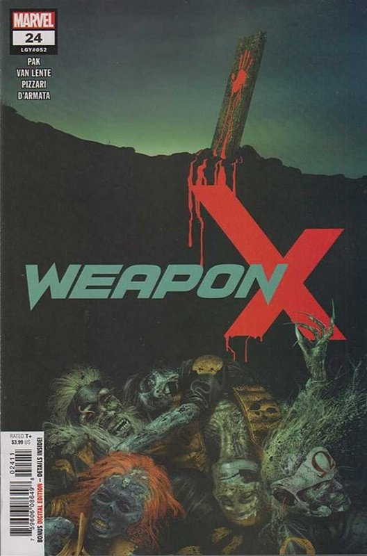Cover of Weapon X (Vol 2) #24. One of 250,000 Vintage American Comics on sale from Krypton!