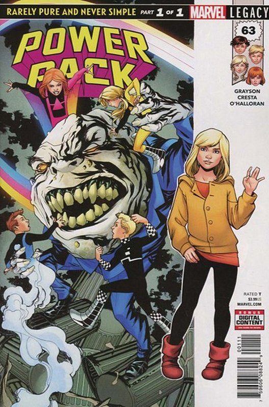Cover of Power Pack (Vol 2) #63. One of 250,000 Vintage American Comics on sale from Krypton!