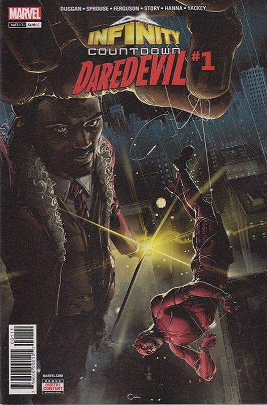 Cover of Infinity Countdown: Daredevil (2018 One Shot) #1. One of 250,000 Vintage American Comics on sale from Krypton!