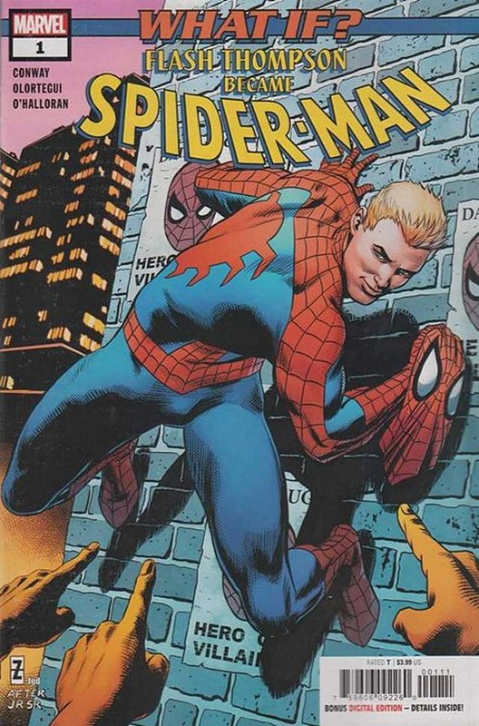 Cover of What if?: Flash Thompson became Spider-Man #1. One of 250,000 Vintage American Comics on sale from Krypton!