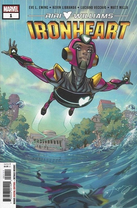 Cover of Ironheart (Vol 1) #1. One of 250,000 Vintage American Comics on sale from Krypton!