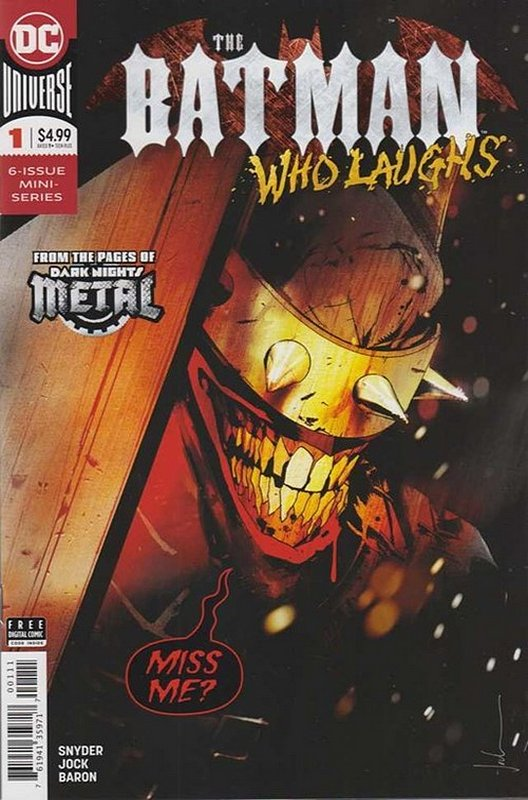 Cover of Batman Who Laughs (2019 Ltd) #1. One of 250,000 Vintage American Comics on sale from Krypton!