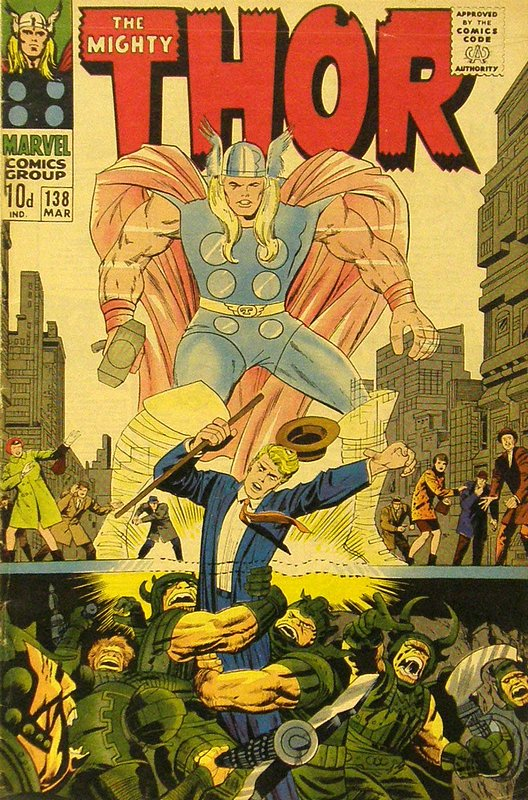 Cover of Thor (Vol 1) #138. One of 250,000 Vintage American Comics on sale from Krypton!