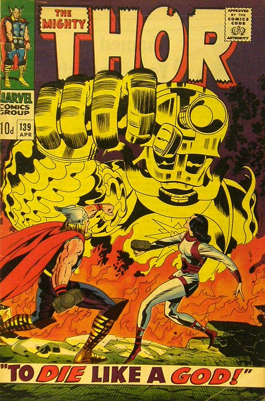Cover of Thor (Vol 1) #139. One of 250,000 Vintage American Comics on sale from Krypton!