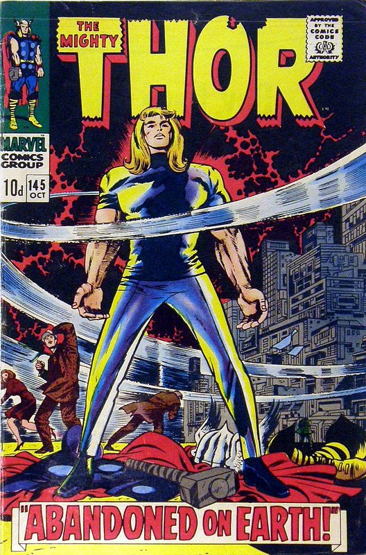 Cover of Thor (Vol 1) #145. One of 250,000 Vintage American Comics on sale from Krypton!