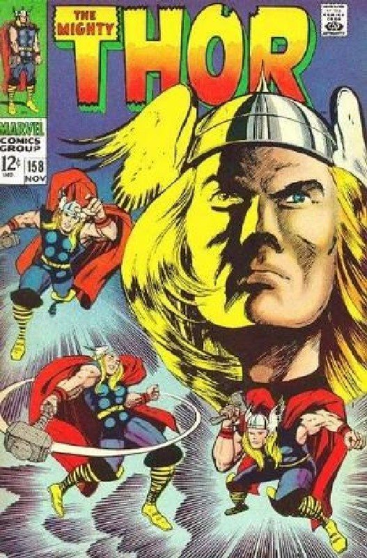 Cover of Thor (Vol 1) #158. One of 250,000 Vintage American Comics on sale from Krypton!