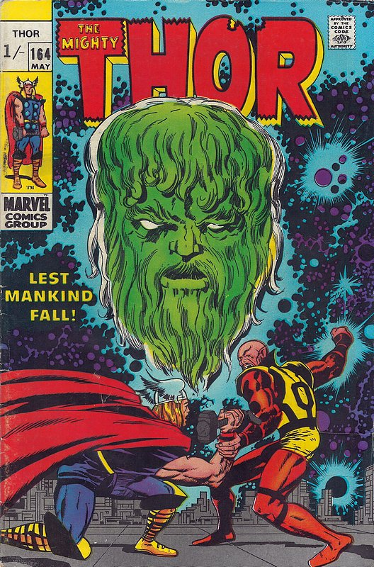 Cover of Thor (Vol 1) #164. One of 250,000 Vintage American Comics on sale from Krypton!