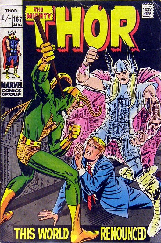 Cover of Thor (Vol 1) #167. One of 250,000 Vintage American Comics on sale from Krypton!