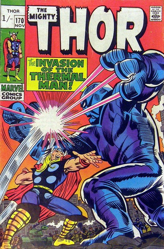 Cover of Thor (Vol 1) #170. One of 250,000 Vintage American Comics on sale from Krypton!