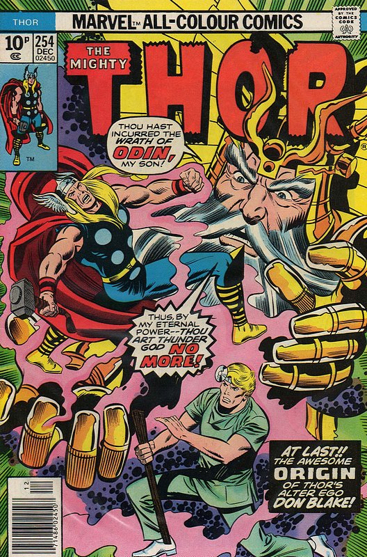 Cover of Thor (Vol 1) #254. One of 250,000 Vintage American Comics on sale from Krypton!