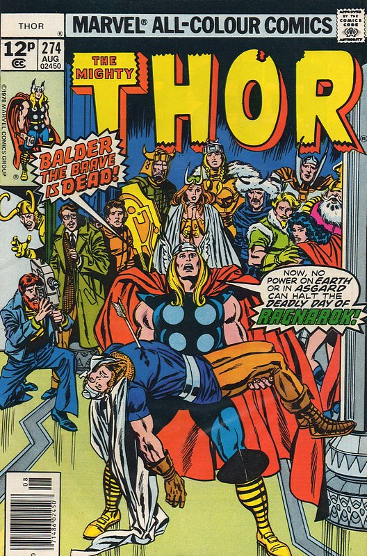 Cover of Thor (Vol 1) #274. One of 250,000 Vintage American Comics on sale from Krypton!