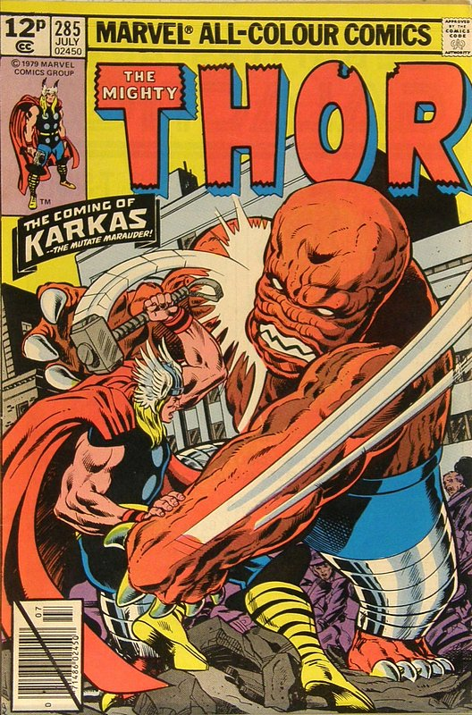Cover of Thor (Vol 1) #285. One of 250,000 Vintage American Comics on sale from Krypton!