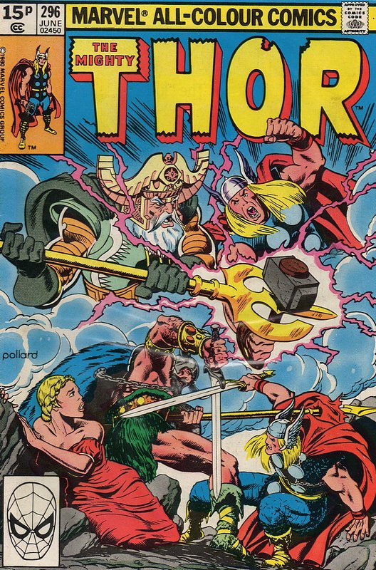 Cover of Thor (Vol 1) #296. One of 250,000 Vintage American Comics on sale from Krypton!