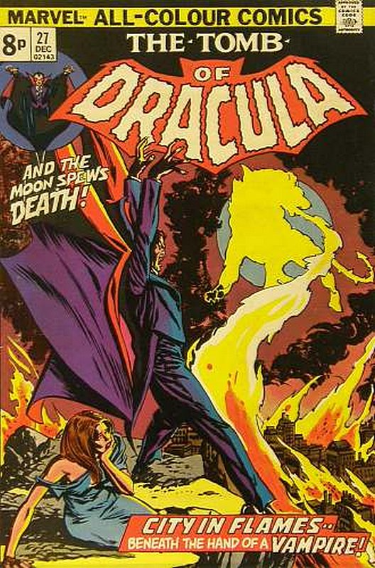 Cover of Tomb of Dracula (Vol 1) #27. One of 250,000 Vintage American Comics on sale from Krypton!
